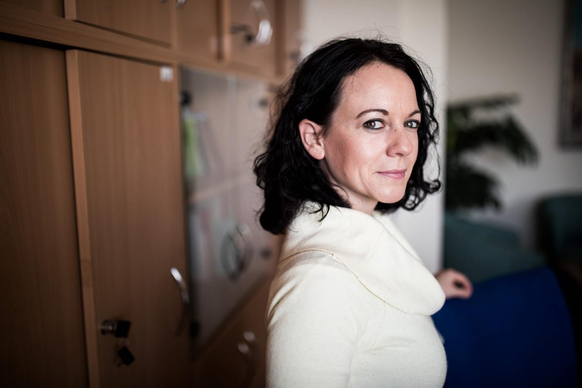 Timea Szabo congresswoman poses for a portrait in her office in Budapest, Hungary on 2019.01.21. Photo: Akos Stiller