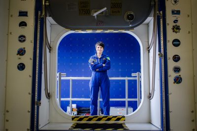 Cologne (Germany), December 18th 2018. Portrait of Samantha Cristoforetti, European Space Agency (ESA) astronaut of Italian nationality. Location: European Astronaut Centre's mock up.